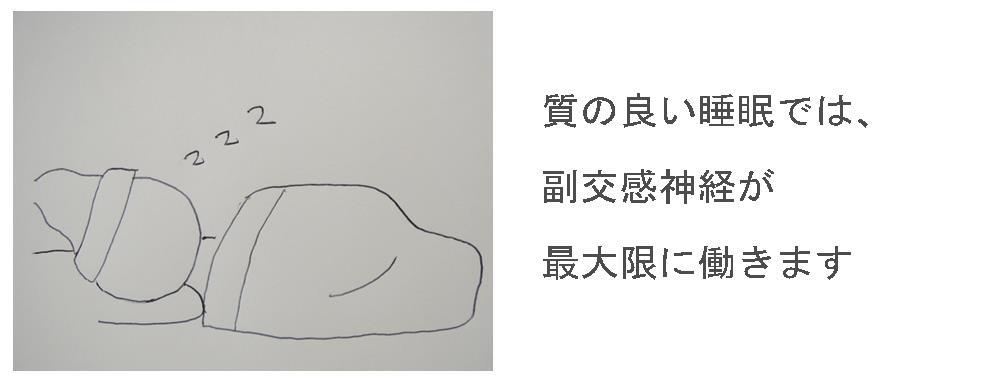 生駒市の自律神経専門整体院「理楽ウェーブ」の質の良い睡眠画像