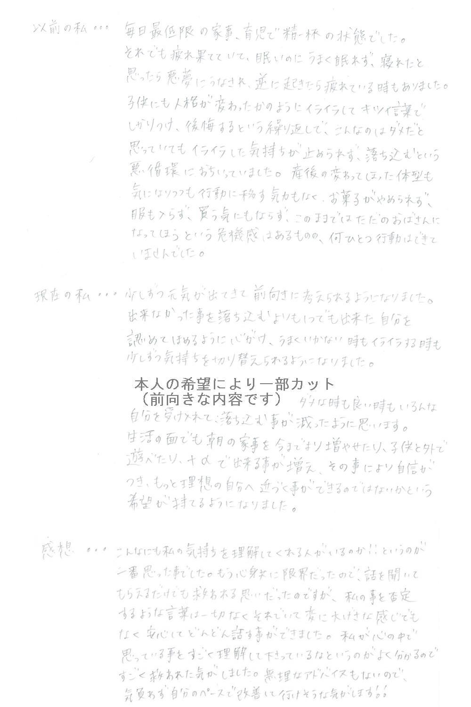 生駒市東生駒の整体・理楽ウェーブで堀江整体の口コミ89
