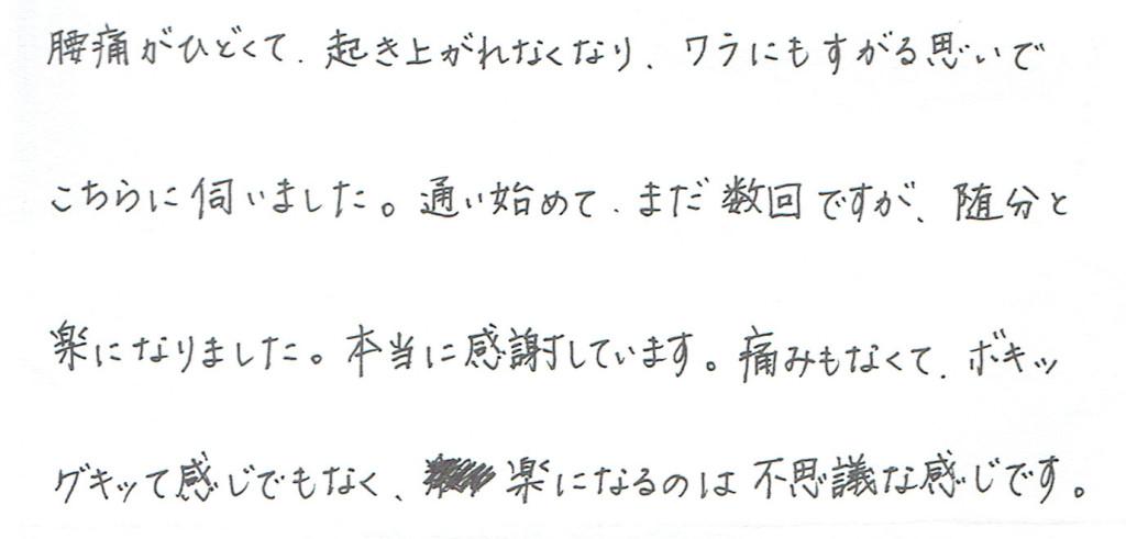 生駒市東生駒の整体サロン理楽ウェーブで堀江整体を受けた感想51
