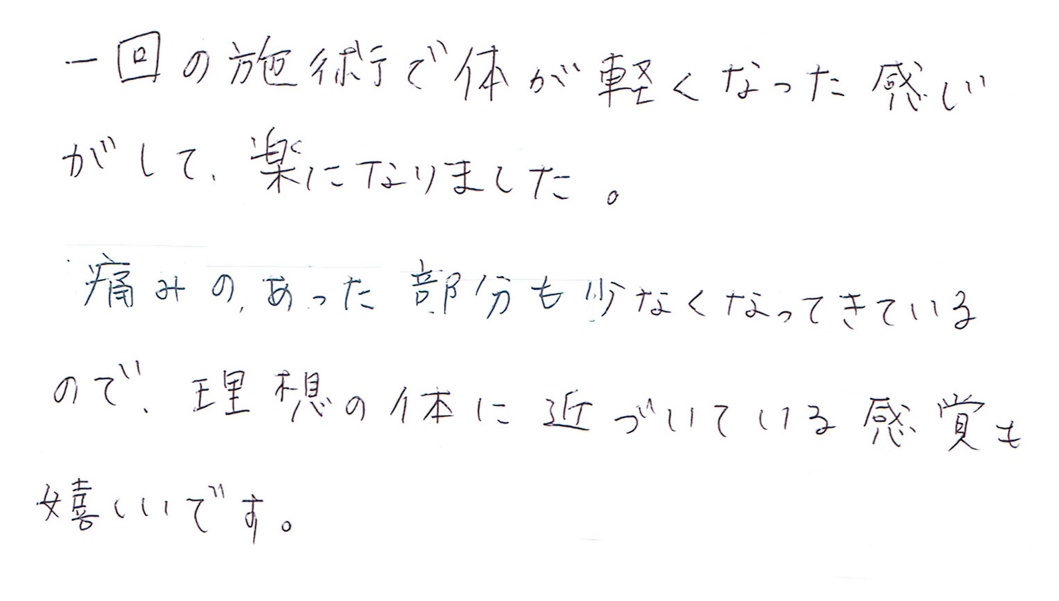 生駒市東生駒の整体サロン理楽ウェーブで堀江整体を受けた感想57