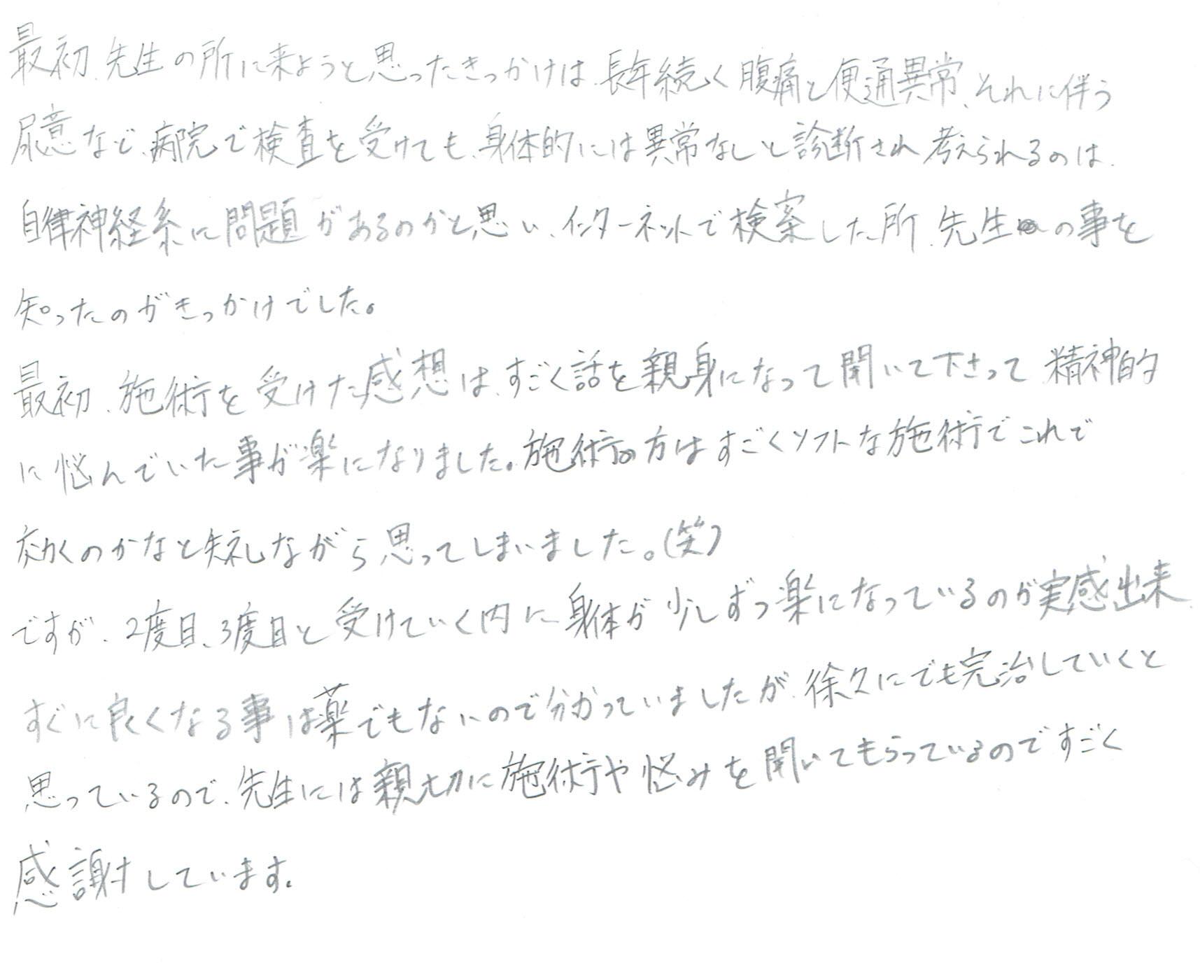 生駒市東生駒の整体・理楽ウェーブで堀江整体の口コミ90