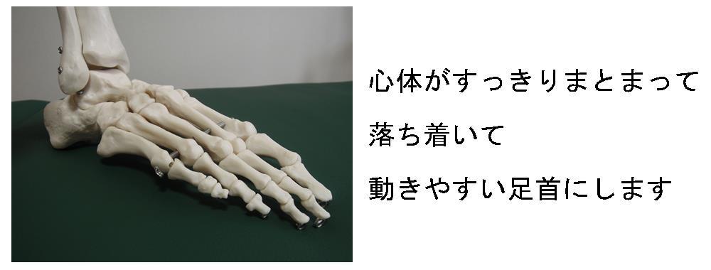 生駒市の自律神経専門整体院「理楽ウェーブ」の足首の状態画像