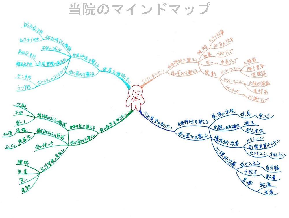 心体のマインドマップ|生駒市の自律神経専門整体院